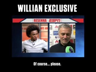 EXCLUSIVE Willian tells ESPN Brasil that Jose Mourinho is the best manager hes ever worked