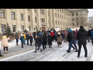 Несанкционированный митинг в Иркутске