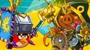 РЕД Каменный страж-провокатор в Всадники Хрякокалипсиса Angry Birds Epic с Кидом 171 на крутилкины