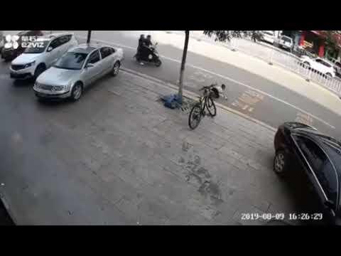 Авария гироскутер