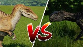 Битва динозавров. ИНДОРАПТОР против СПИНОРАПТОРА. Jurassic World Evolution. Динозавры