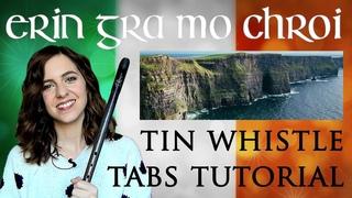 ERIN GRA MO CHROI | Ireland, Love of my Heart TIN WHISTLE TABS TUTORIAL