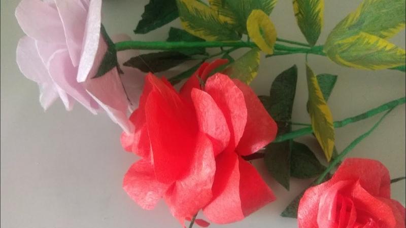 🌹Целофан пакетдан ясалиши осон аммо жуда чиройли атиргул Yasalishi oson atirgul Розы из пакетов